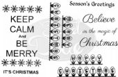 Sweet Dixie – Keep Calm and Be Merry – Clear Stamp – SDCSA6005
